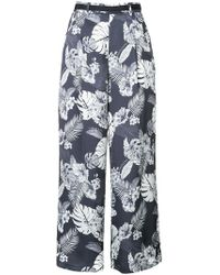 Loveless - Floral Printed Flared Trousers - Lyst