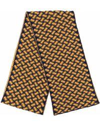Drumohr Razor Blade Knitted Scarf - Yellow
