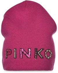 Pinko Шапка Бини С Логотипом - Розовый