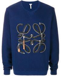Loewe Zip Detail Sweatshirt - Blue