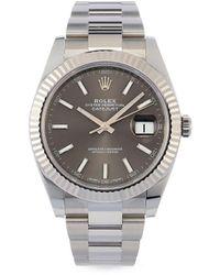 Rolex Наручные Часы Datejust Pre-owned 41 Мм 2020-го Года - Серый