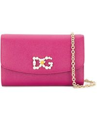 Dolce & Gabbana - Клатч С Декорированным Логотипом - Lyst
