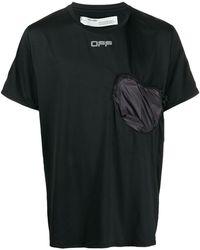 Off-White c/o Virgil Abloh Camiseta con bolsillo en el pecho - Negro