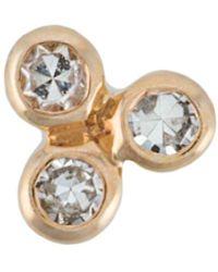 Maria Black Pendiente con aplique Diamond Triad Labret - Metálico