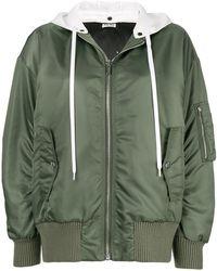Miu Miu - Detachable Hood Bomber Jacket - Lyst
