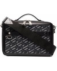 Versace ラ グレカ ハンドバッグ - ブラック