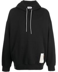 Izzue Graphic-print Pullover Hoodie - Black