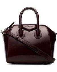 Givenchy - Burgundy Antigona Mini Leather Bag - Lyst