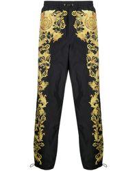 Versace Jeans Couture バロッコプリント トラックパンツ - ブラック