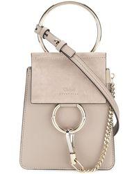 Chloé Small Faye Bracelet Bag - Grijs