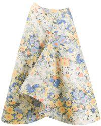 Nina Ricci - Rock mit Blumen-Print - Lyst