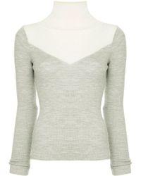 Tu Es Mon Tresor - Panelled Turtleneck Sweater - Lyst