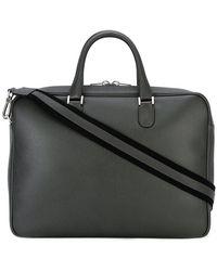 Valextra Avietta Briefcase - Black