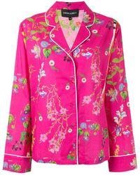 Cynthia Rowley Top de pijama con estampado floral - Rosa