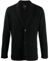 Armani Exchange ロングスリーブ カーディガン - ブラック
