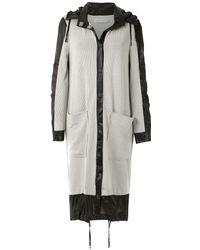Mara Mac Panels Maxi Coat - Gray