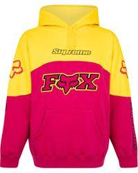 Supreme Fox Racing パーカー - ピンク