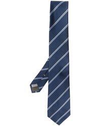 Canali Corbata a rayas diagonales - Azul