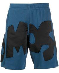 Moschino Спортивные Шорты С Аппликацией Логотипа - Синий