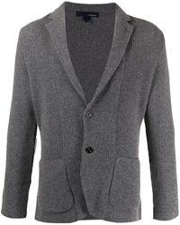 Lardini Ribbed Blazer Cardigan - Grey