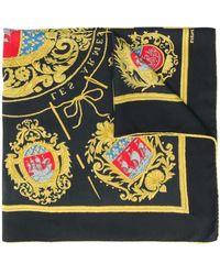 Hermès Платок Les Armes De Paris 1990-х Годов Pre-owned - Черный
