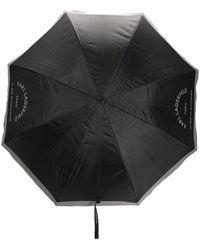 Karl Lagerfeld Parapluie à logo imprimé - Noir