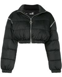 Love Moschino - Cropped Padded Jacket - Lyst