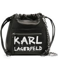 Karl Lagerfeld Сумка-ведро С Логотипом - Черный