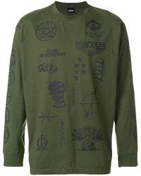 KTZ プリント ロングtシャツ - グリーン