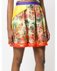 Piccione.piccione - Tropical Print Pleated Skirt - Lyst