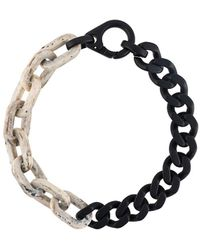 A_COLD_WALL* Two Tone Short Necklace - Multicolour