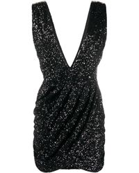 Amen Vネック ドレス - ブラック