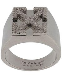 Off-White c/o Virgil Abloh Кольцо С Логотипом Arrows - Металлик