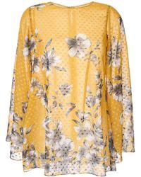 Bambah Floral Bridget Tunic Top - Yellow