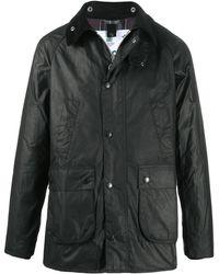 Barbour スナップボタン コート - ブラック