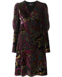 Etro - Расклешенное Платье С Принтом Пейсли - Lyst