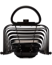 Cult Gaia Black Lilleth Acrylic Mini Bag