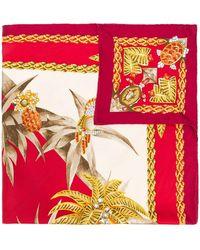 Cartier Fular con estampado tropical - Rojo