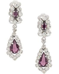 Christian Dior x Susan Caplan 1990's Archive Clip-on Chandelier Earrings - Metallic