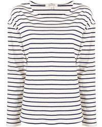 Nili Lotan ストライプ Tシャツ - ホワイト
