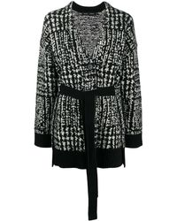 Proenza Schouler Two-tone Belted Cardigan - Black