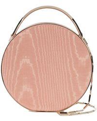 Eddie Borgo Mini Wood Print Circle Tote - Pink