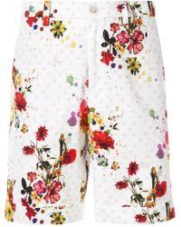 Loveless Floral Print Shorts - White
