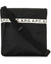 A.P.C. ロゴ メッセンジャーバッグ - ブラック