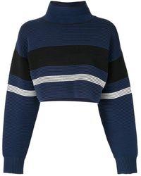 Nagnata Jersey corto con cuello vuelto - Azul