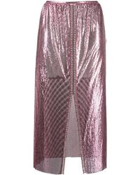 Paco Rabanne ディスク スカート - ピンク