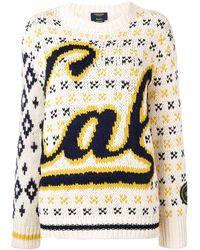 CALVIN KLEIN 205W39NYC Cal インターシャ セーター - マルチカラー