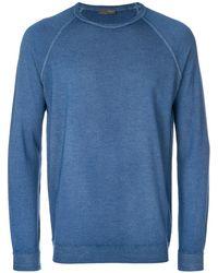 Drumohr ラグランスリーブ セーター - ブルー