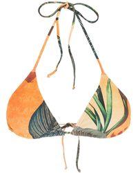 Lygia & Nanny Lido Abstract Floral-print Bikini - Orange