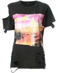 DIESEL | Deconstructed Printed T-shirt | Lyst